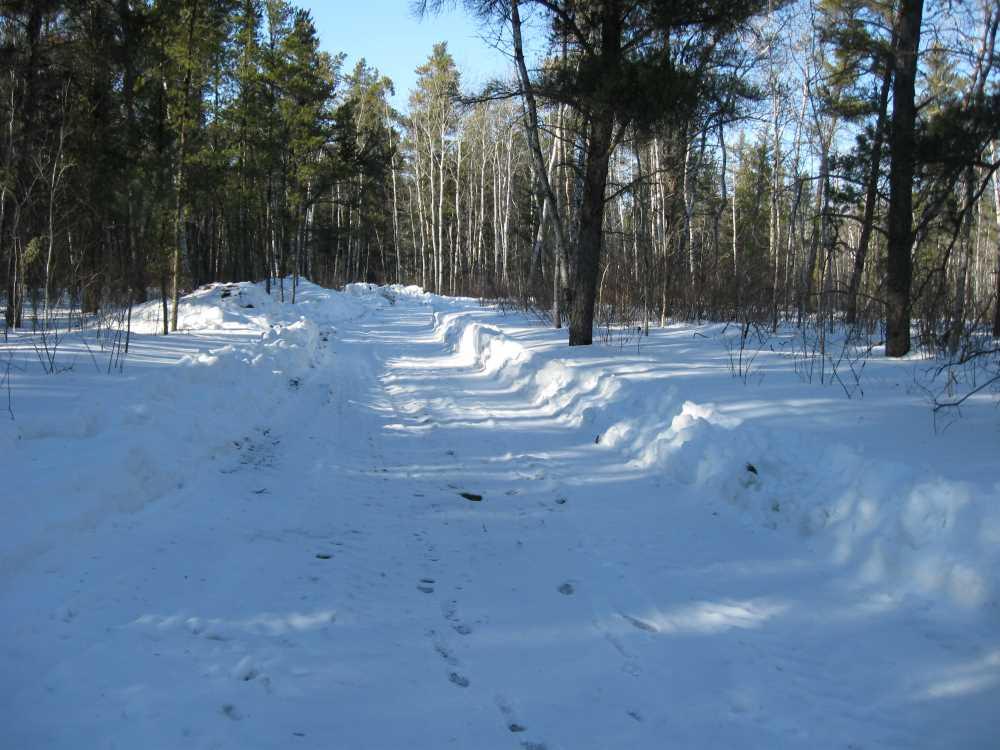 John Kundert's Manitoba Nudist Scrapbook: Gallery 06/22...Hydro tries winter pole installation