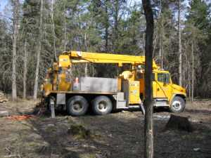 John Kundert's Manitoba Nudist Scrapbook: Gallery 07/02...Hydro installs poles for the power line