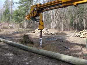 John Kundert's Manitoba Nudist Scrapbook: Gallery 07/05...Hydro installs poles for the power line