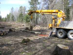 John Kundert's Manitoba Nudist Scrapbook: Gallery 07/07...Hydro installs poles for the power line