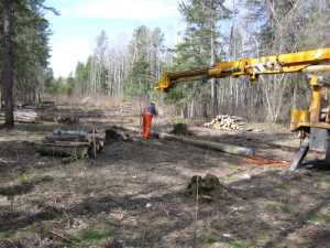 John Kundert's Manitoba Nudist Scrapbook: Gallery 07/09...Hydro installs poles for the power line