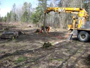John Kundert's Manitoba Nudist Scrapbook: Gallery 07/12...Hydro installs poles for the power line