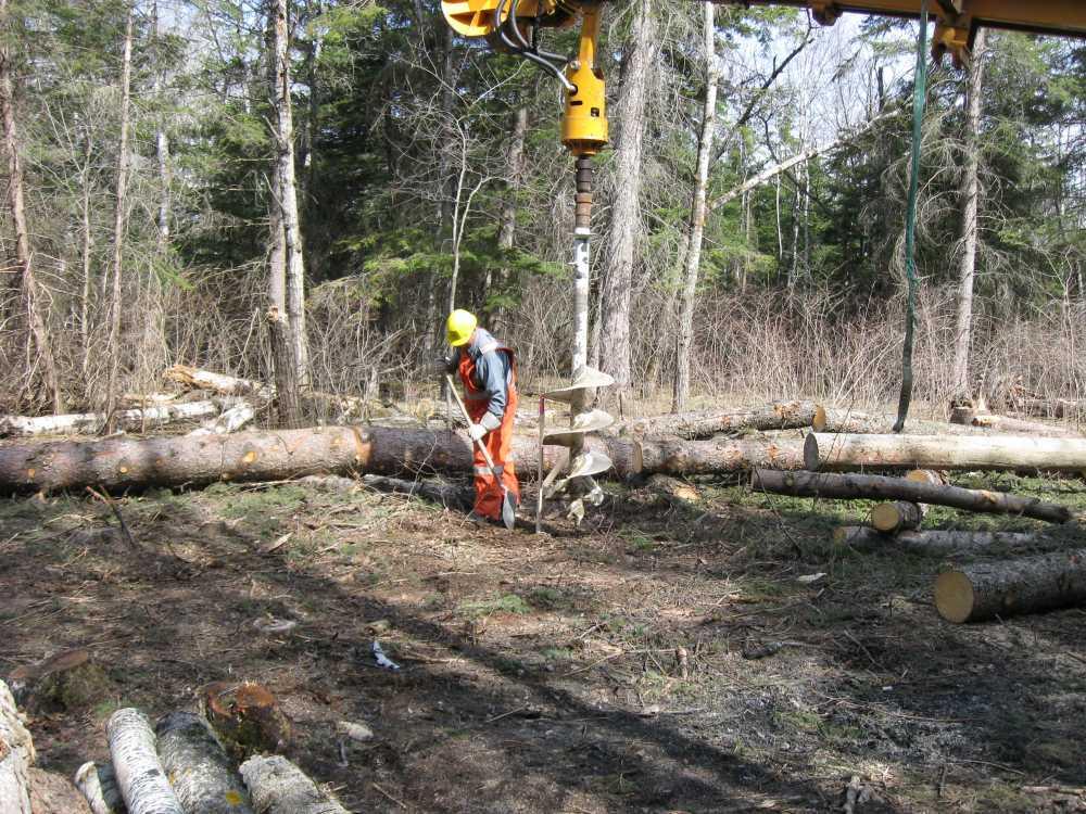 John Kundert's Manitoba Nudist Scrapbook: Gallery 07/17...Hydro installs poles for the power line