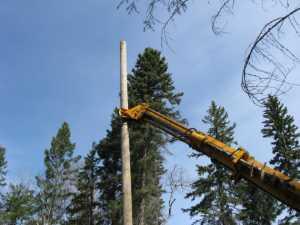 John Kundert's Manitoba Nudist Scrapbook: Gallery 07/19...Hydro installs poles for the power line
