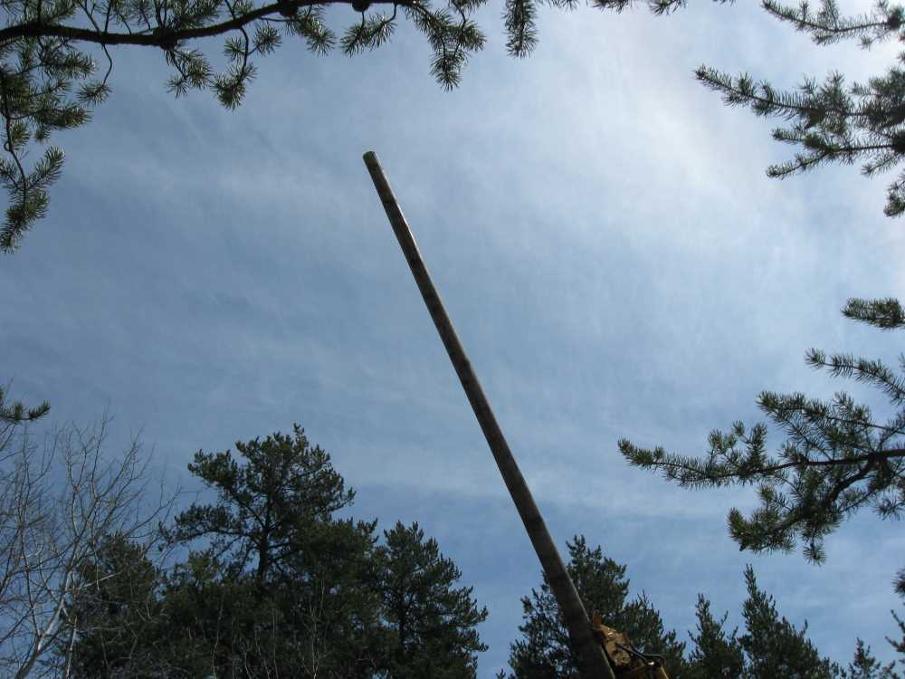 John Kundert's Manitoba Nudist Scrapbook: Gallery 07/29...Hydro installs poles for the power line