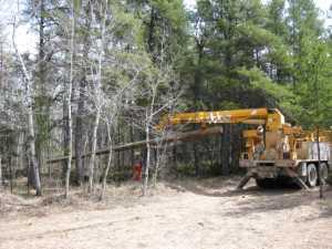 John Kundert's Manitoba Nudist Scrapbook: Gallery 07/30...Hydro installs poles for the power line