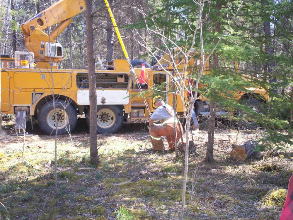 John Kundert's Manitoba Nudist Scrapbook: Gallery 08/18...Hydro installs wires and a transformer