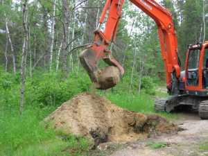 John Kundert's Manitoba Nudist Scrapbook: Gallery 11/38...Sewage holding tanks are installed