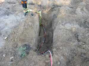 John Kundert's Manitoba Nudist Scrapbook: Gallery 13/16...Underground wiring is installed