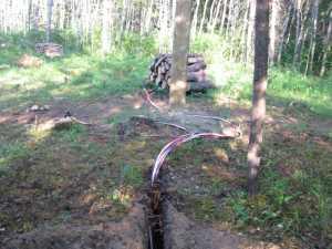 John Kundert's Manitoba Nudist Scrapbook: Gallery 13/22...Underground wiring is installed