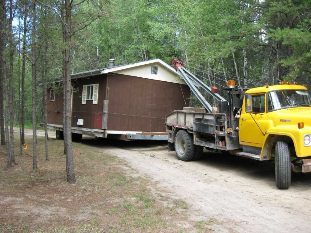 John Kundert's Manitoba Nudist Scrapbook: Gallery 16.1/12...Another cottage is moved to Naturist Legacy Park