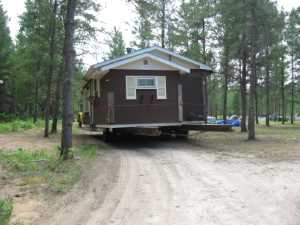 John Kundert's Manitoba Nudist Scrapbook: Gallery 16.1/14...Another cottage is moved to Naturist Legacy Park