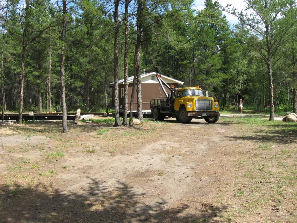 John Kundert's Manitoba Nudist Scrapbook: Gallery 16.1/15...Another cottage is moved to Naturist Legacy Park