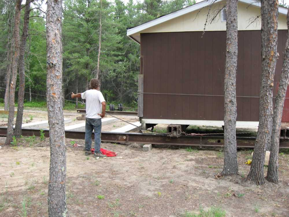 John Kundert's Manitoba Nudist Scrapbook: Gallery 16.1/20...Another cottage is moved to Naturist Legacy Park
