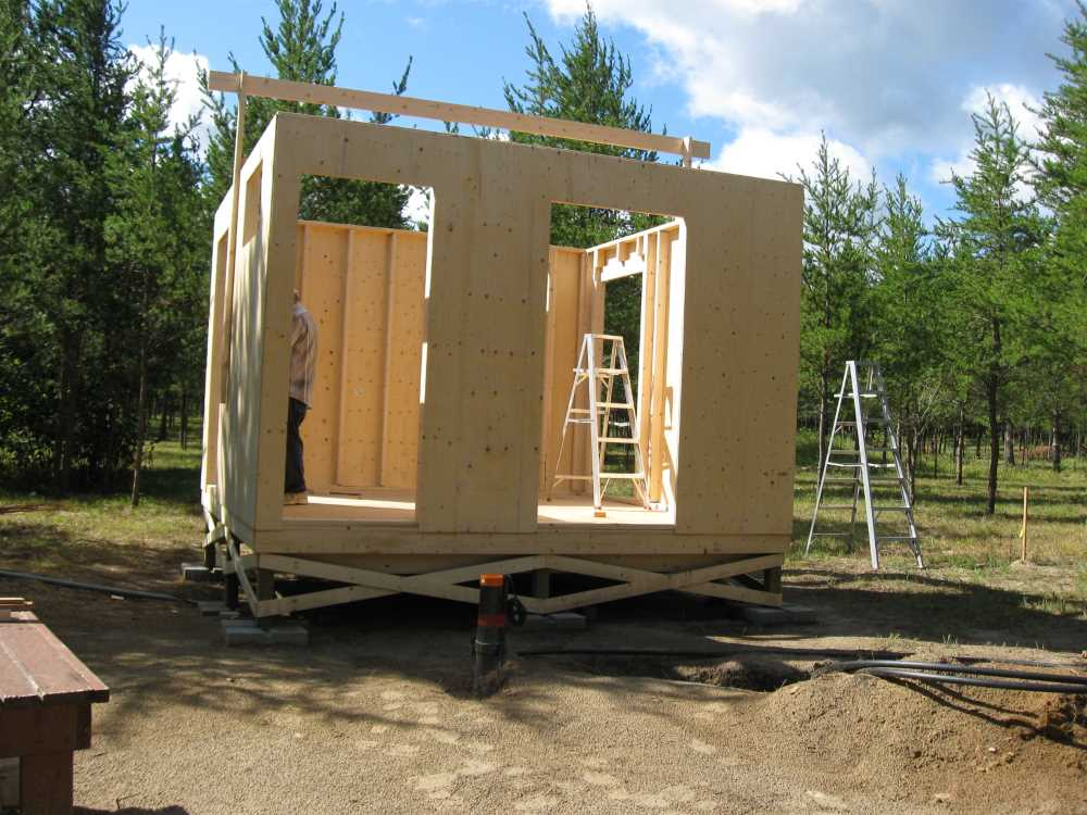 John Kundert's Manitoba Nudist Scrapbook: Gallery 17/07...New washroom/shower building begins
