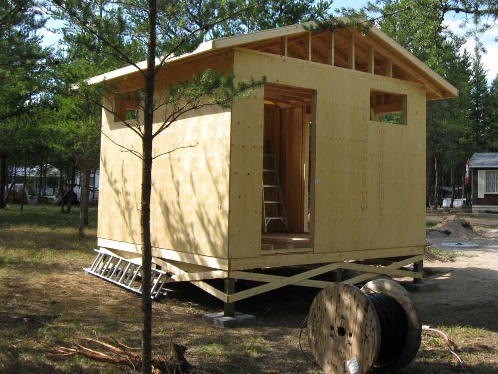 John Kundert's Manitoba Nudist Scrapbook: Gallery 17/16...New washroom/shower building begins