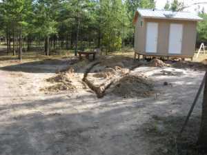 John Kundert's Manitoba Nudist Scrapbook: Gallery 18/03...New washroom/shower building continues