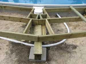 John Kundert's Manitoba Nudist Scrapbook: Gallery 26/08...Building a splash deck for the pool