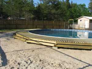 John Kundert's Manitoba Nudist Scrapbook: Gallery 26/15...Building a splash deck for the pool