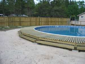 John Kundert's Manitoba Nudist Scrapbook: Gallery 26/18...Building a splash deck for the pool