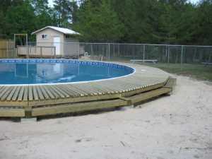 John Kundert's Manitoba Nudist Scrapbook: Gallery 26/19...Building a splash deck for the pool