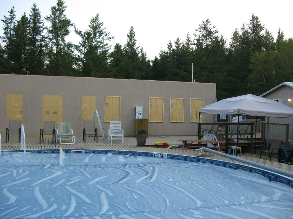 John Kundert's Manitoba Nudist Scrapbook: Gallery 37/30...Clubhouse floor and walls are framed