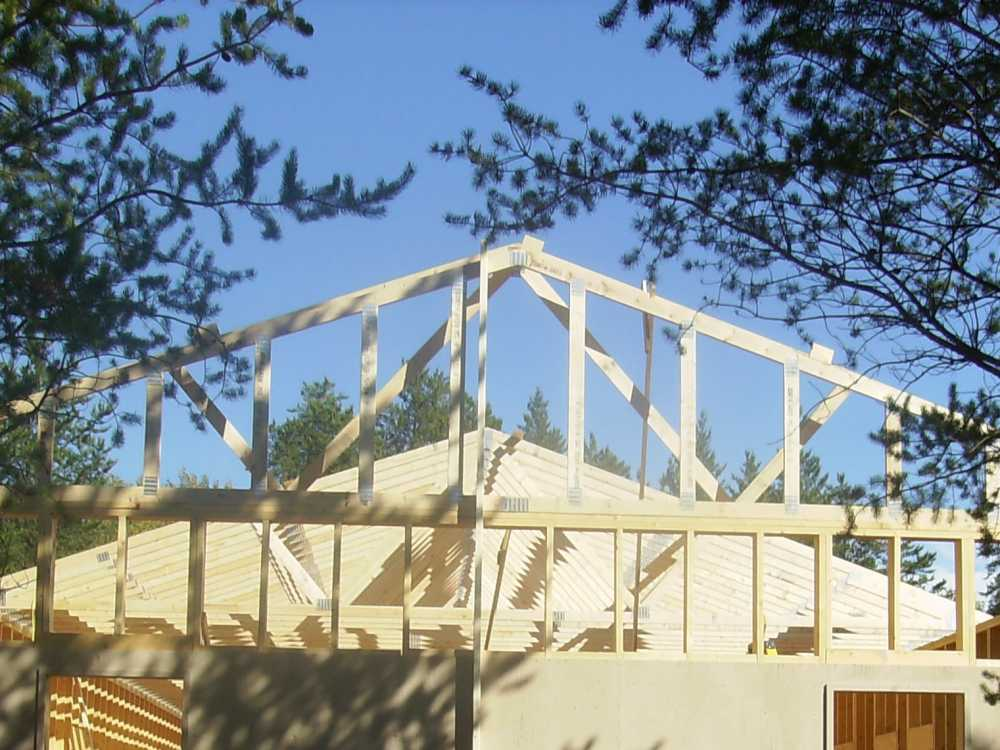 John Kundert's Manitoba Nudist Scrapbook: Gallery 38/11...Adding rafters to the clubhouse