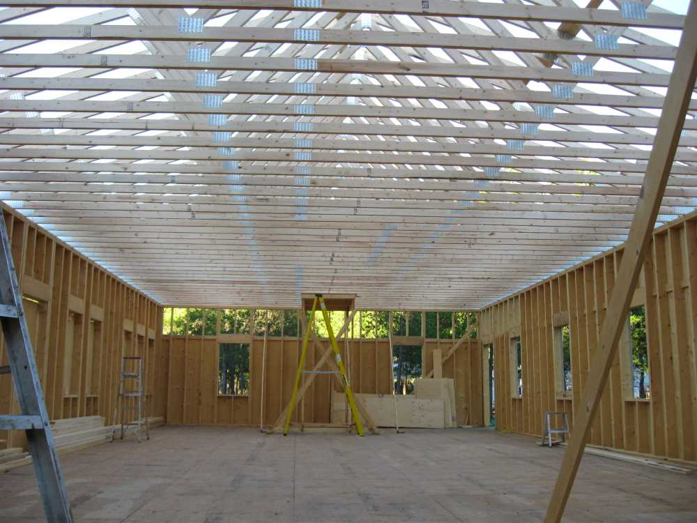John Kundert's Manitoba Nudist Scrapbook: Gallery 38/16...Adding rafters to the clubhouse