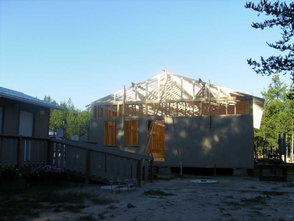 John Kundert's Manitoba Nudist Scrapbook: Gallery 38/18...Adding rafters to the clubhouse