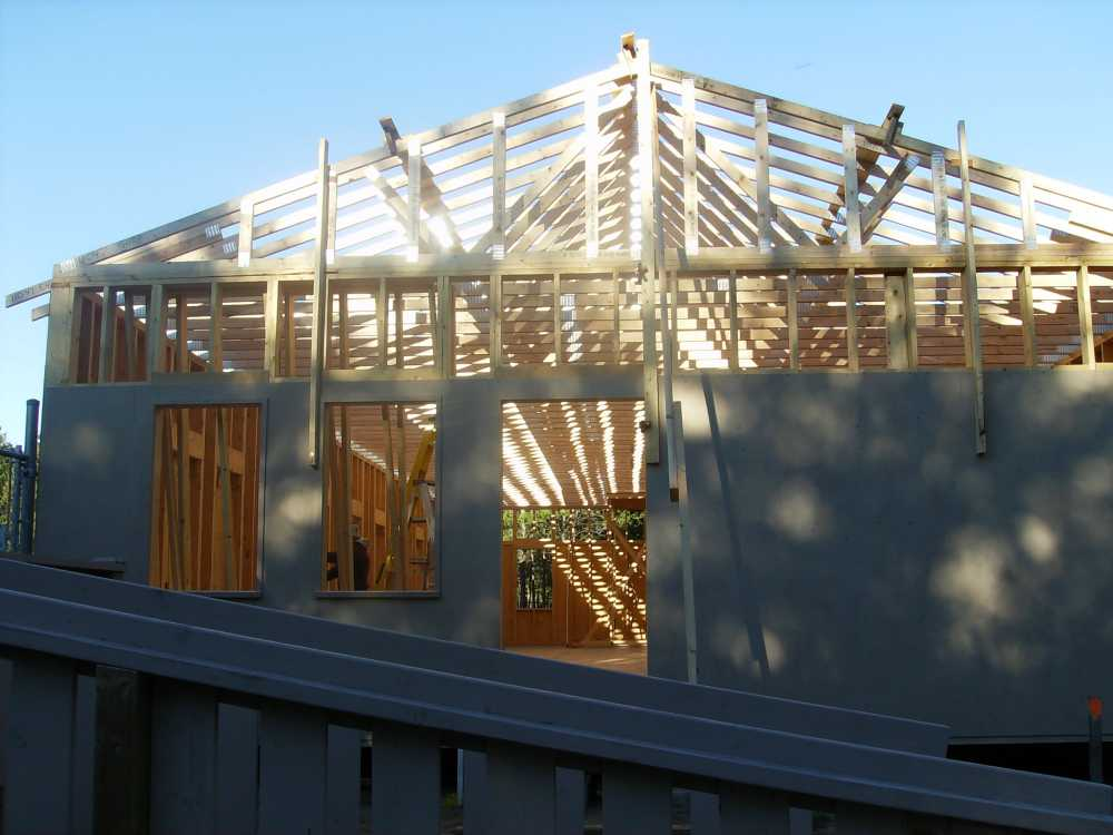John Kundert's Manitoba Nudist Scrapbook: Gallery 38/19...Adding rafters to the clubhouse
