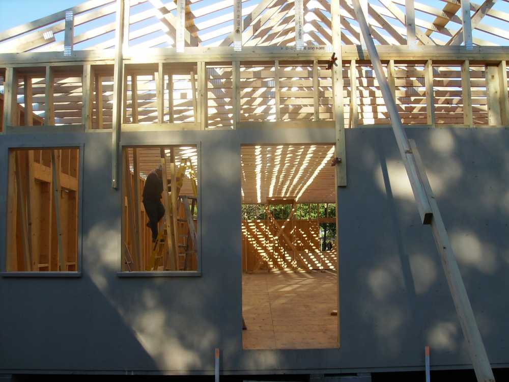 John Kundert's Manitoba Nudist Scrapbook: Gallery 38/20...Adding rafters to the clubhouse