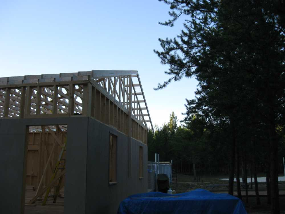 John Kundert's Manitoba Nudist Scrapbook: Gallery 38/22...Adding rafters to the clubhouse