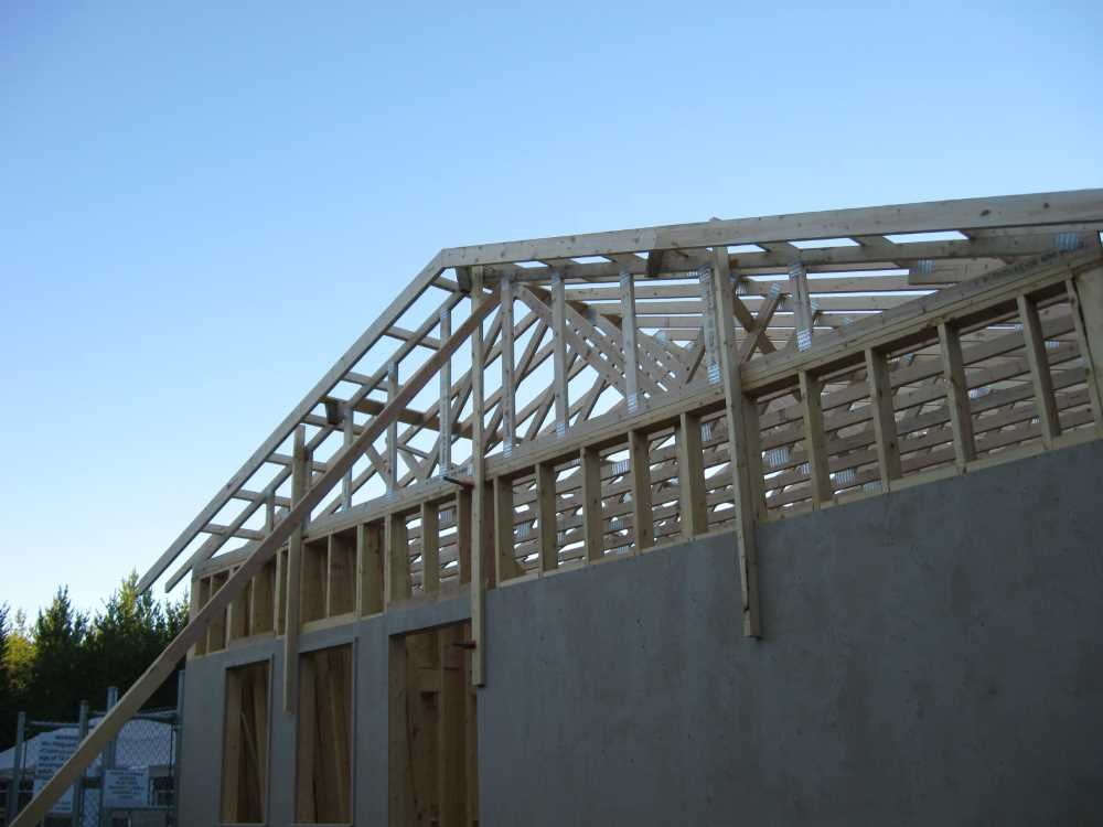 John Kundert's Manitoba Nudist Scrapbook: Gallery 38/24...Adding rafters to the clubhouse