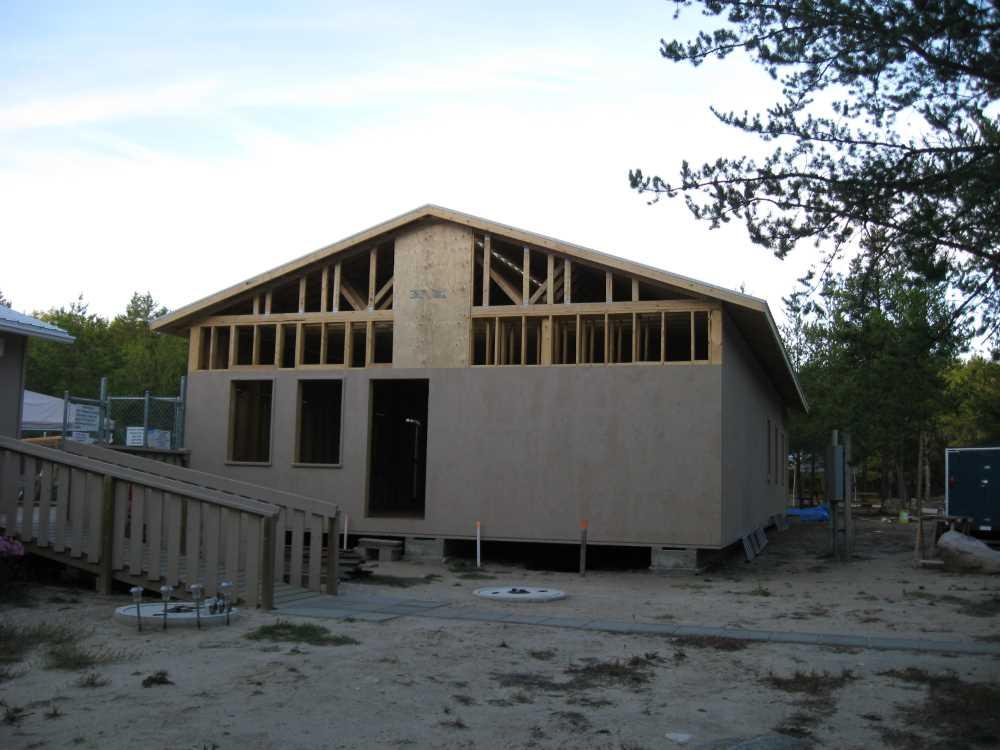 John Kundert's Manitoba Nudist Scrapbook: Gallery 39/12...Plywood sheathing and metal roofing applied