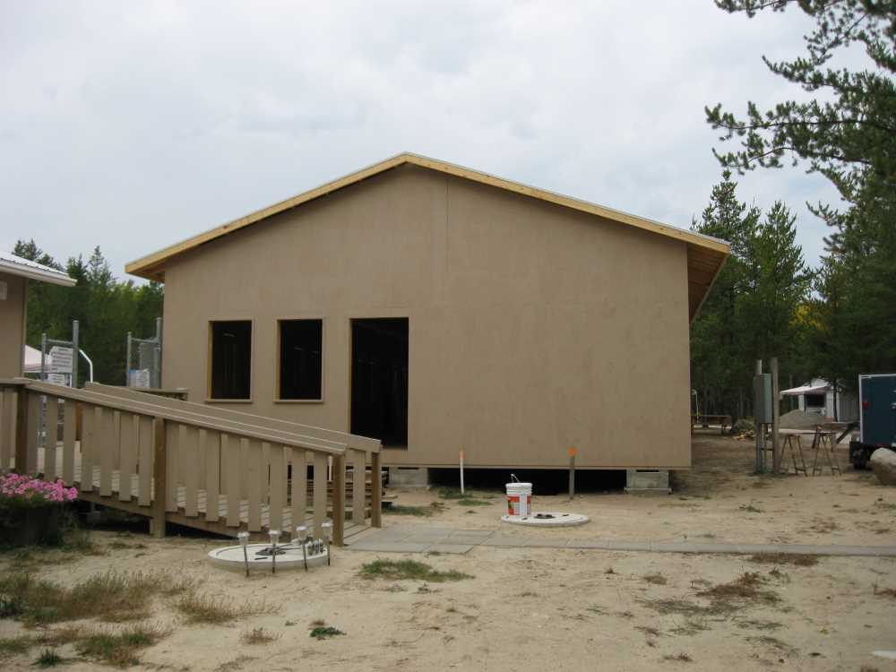 John Kundert's Manitoba Nudist Scrapbook: Gallery 39/13...Plywood sheathing and metal roofing applied