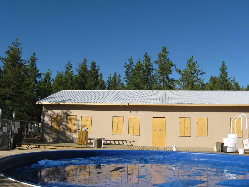 John Kundert's Manitoba Nudist Scrapbook: Gallery 39/20...Plywood sheathing and metal roofing applied