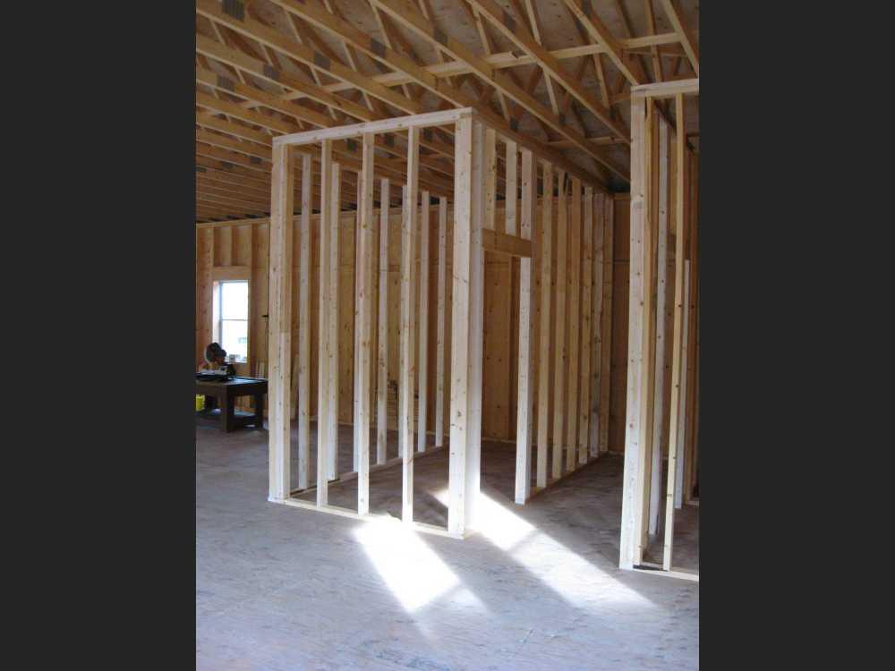 John Kundert's Manitoba Nudist Scrapbook: Gallery 41/05...Walls are framed, decks and steps built