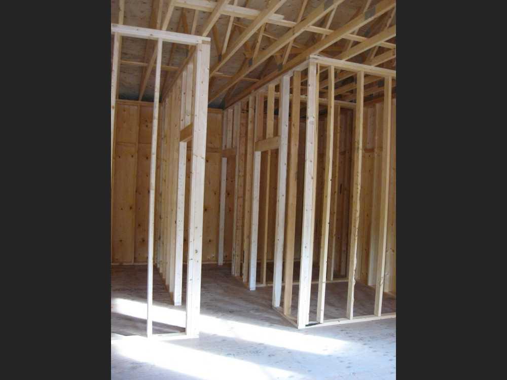 John Kundert's Manitoba Nudist Scrapbook: Gallery 41/06...Walls are framed, decks and steps built